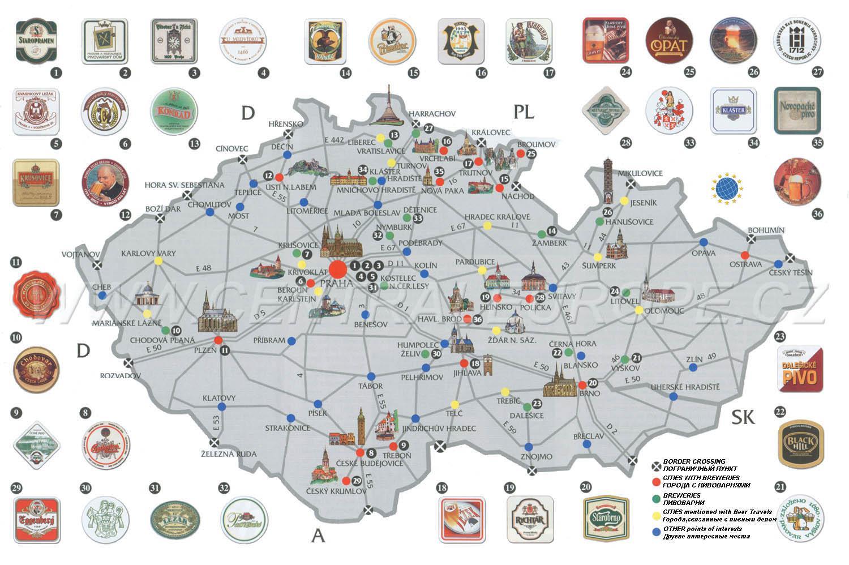 Prague Beer Map Beer Map Prague Bohemia Czechia